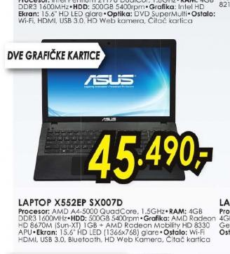 Laptop X552EP-SX007D