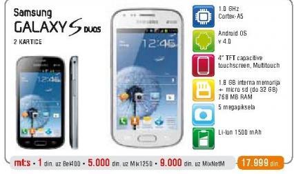 Mobilni Telefon GALAXY S Duos