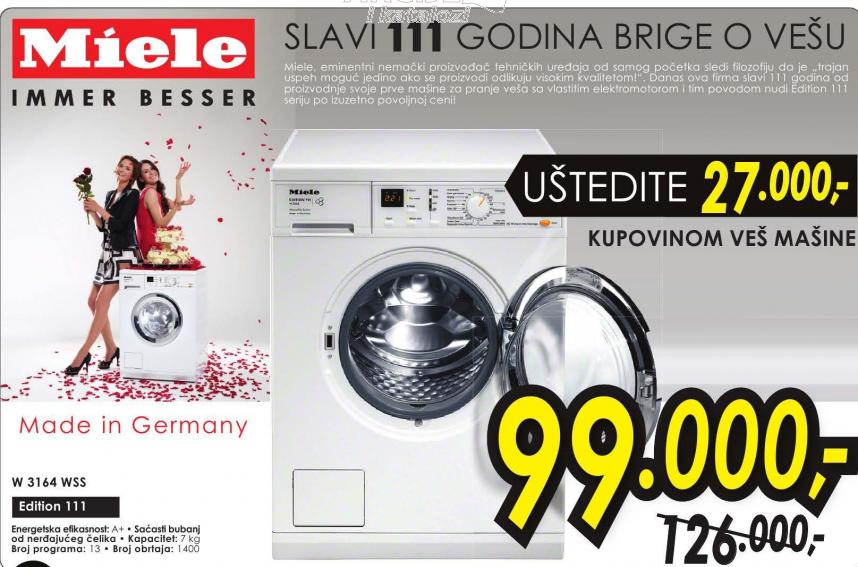 Mašina za pranje veša W 3164 WSS