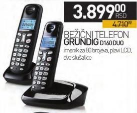 Bežični telfon D160 Duo