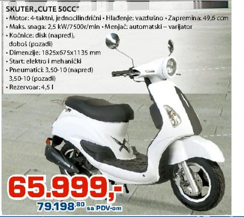 "Skuter ""CUTE 50cc"""