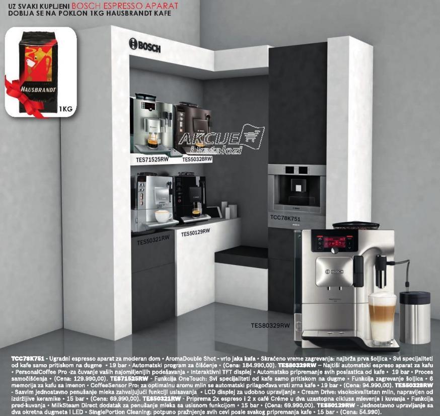 Aparat za espresso Tes50328rw  + Poklon 1kg Hausbrandt kafe