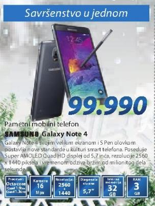 Mobilni Telefon GALAXY Note4