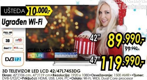 """Televizor LED 47"""" 3D 47l7453dg"""