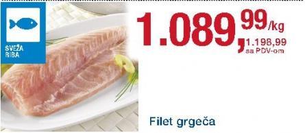 Riba grgeč filet