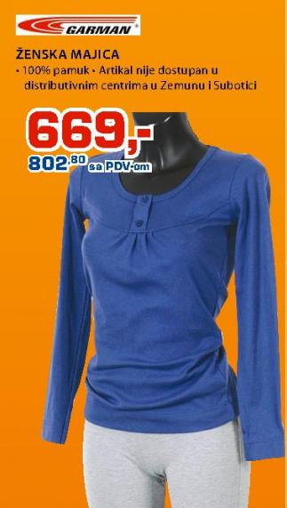 Ženska majica, Garman