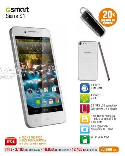 Mobilni telefon Gsmart Sierra S1