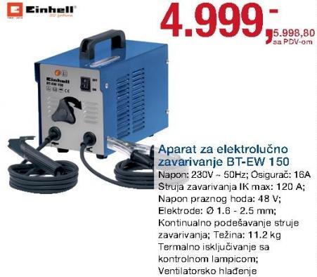 Aparat za elektrolučno zavarivanje Bt-Ew 150