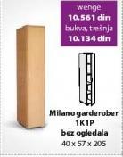 Garderober Milano 1K1P bez ogledala Wenge