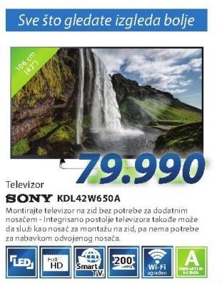 """Televizor LED 42"""" KDL-42W650a"""