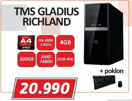 Računar Tms Gladius Richland + Poklon Tastaura i miš