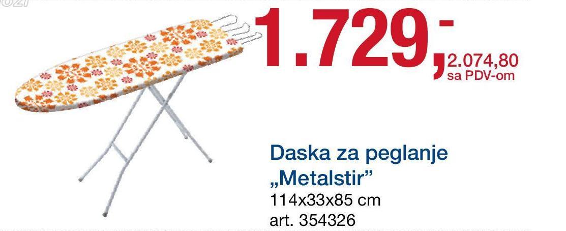 Daska za peglanje Metalstir