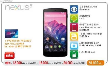 Mobilni telefon Nexus 5