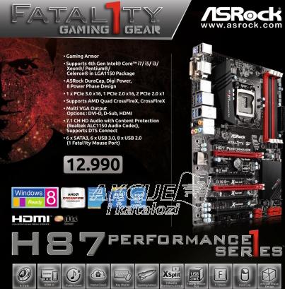 Matična ploča ASRock MB - SOCKET 1150 - Fatal1ty H87 Performance
