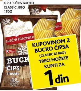 Kupovinom 2 Bucko čipsa