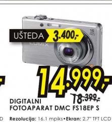 Digitalni fotoaparat Lumix DMC-FS18EP-S