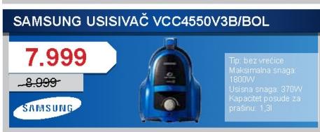 Usisivač VCC4550V3B/BOL