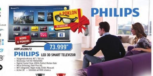 LED televizor 40PFL4528H