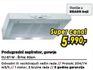 Aspirator DU 611 W