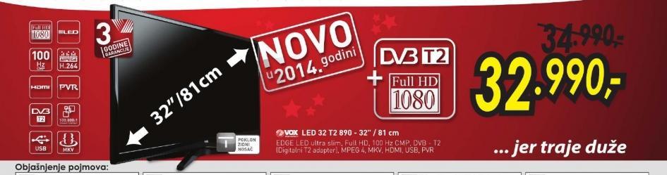 Televizor LED 32T2 890