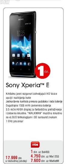 Mobilni Telefon Xperia E