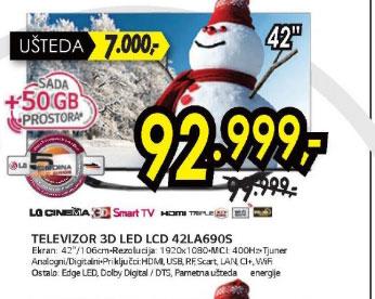 3D televizor LED LCD 42LA690S
