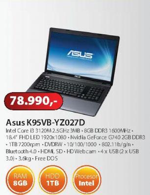 Laptop  K95VB-YZ027D