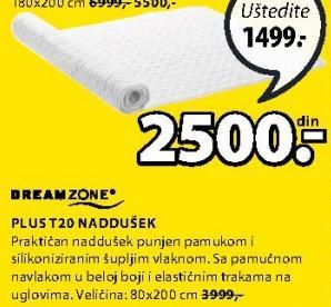 Naddušek Plus T20 80x200cm