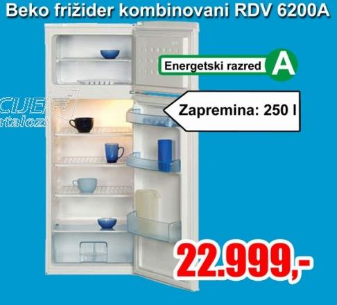 Kombinovani frižider Rdv 6200a