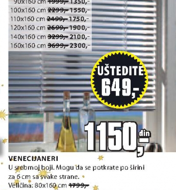 Venecijaner, 80x160cm