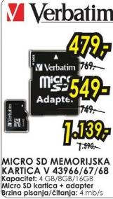 Micro SD memorijska kartica 16GB V 43968