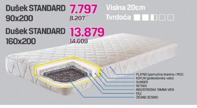 Dušek Standard 160x200 cm - Andrijašević