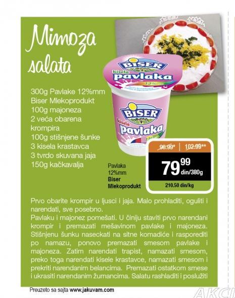 Recept - Mimoza salata