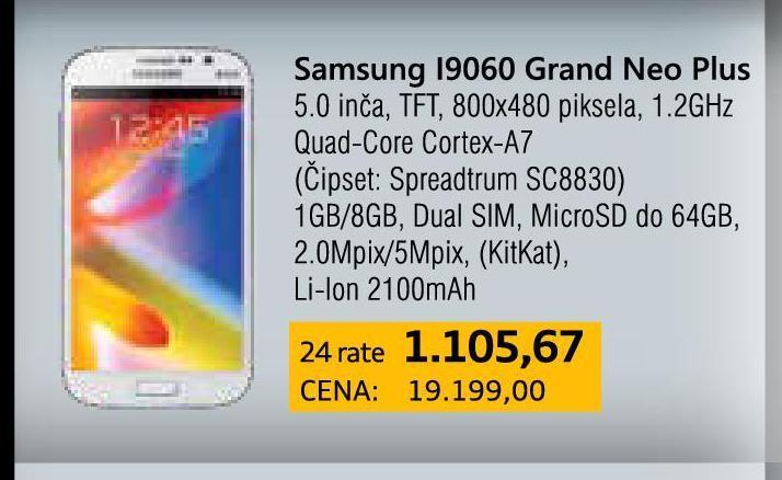 Mobilni telefon  I9060 Dual Sim Grand NEO