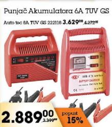 Punjač akumulatora 6A TUV GS