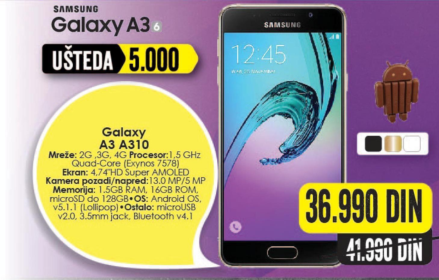 Mobilni telefon Galaxy A3 A310