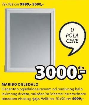 Ogledalo Maribo 72x162cm