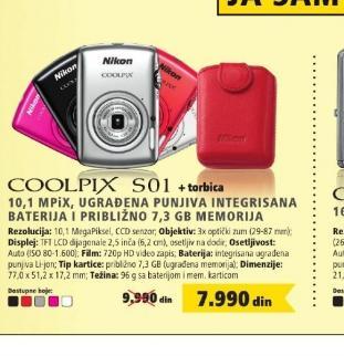 Digitalni fotoaparat Coolpix S01