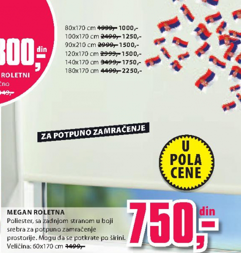 Roletna MEGAN  80x170cm