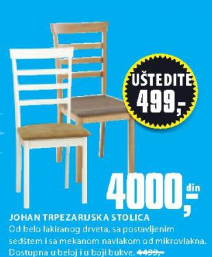 Trpezarijska stolica Johan