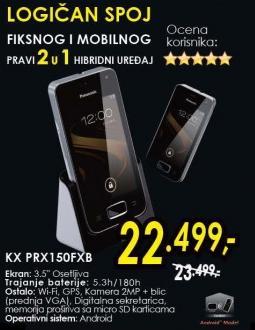 Bežični i mobilni telefon Kx Prx150fxb