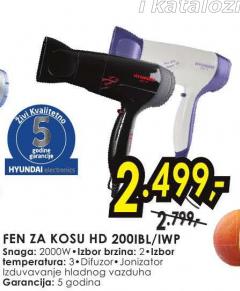 Fen za kosu HD 200IBL/IWP