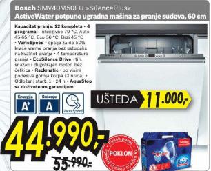 Smv40D30Eu Ugradna Sudomašina