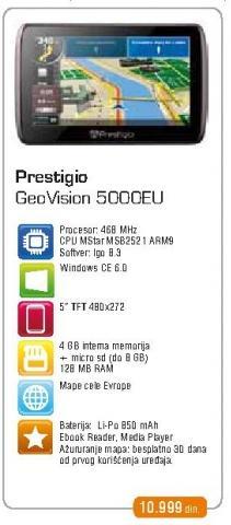 Navigacija GeoVision 5000Eu