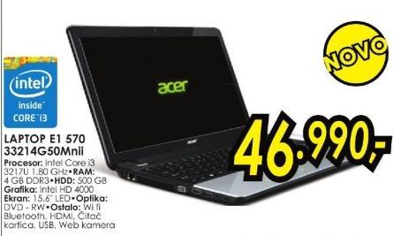 Laptop Aspire E1 570 33214g50mnii