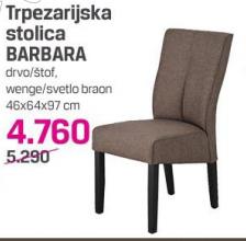 Trpezarijska stolica Barbara