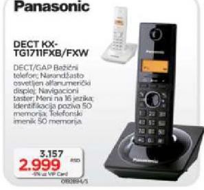 Bežični telefon Panasonic KX-TG 1711FXB/ FXW