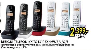 Bežični telefon Kx Tg1611fxh/w/r/j/c/f