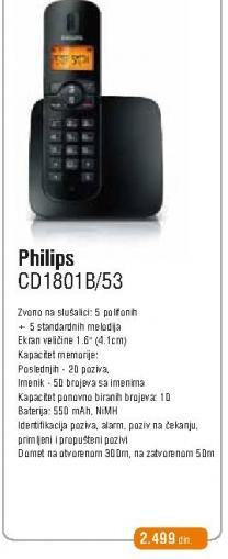 Bezicni telefon CD 1801B/53