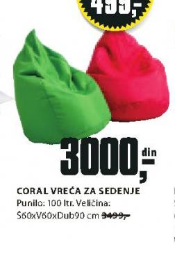 Vreća za sedenje coral